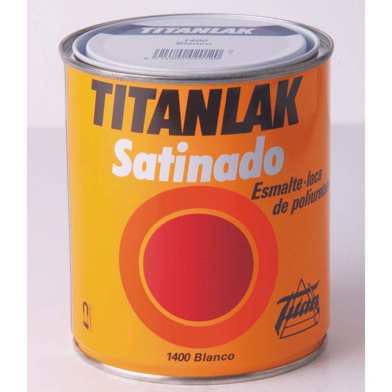 Esmalte laca de poliuretano titanlak satinado multipinturas for Pintura de poliuretano